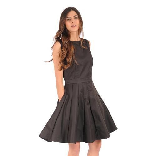 Vestido Color Siete Para Mujer - Negro