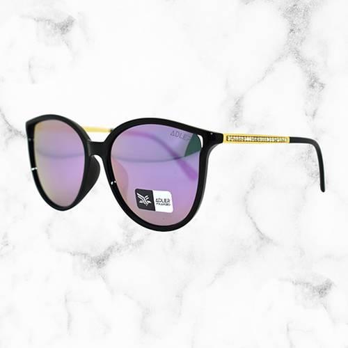 Gafas de sol polarizada con filtro UV 400 Rosado - Dorado Negro