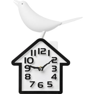 Reloj pared Bird blanco