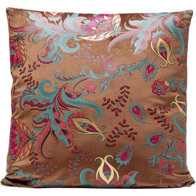 Cojín Floral marrón 45x45cm