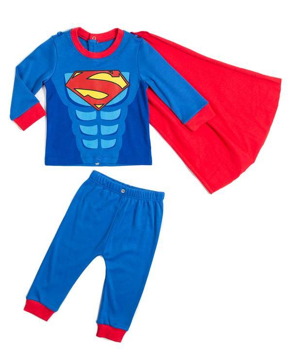 Pijama Con Capa Bebito Superman