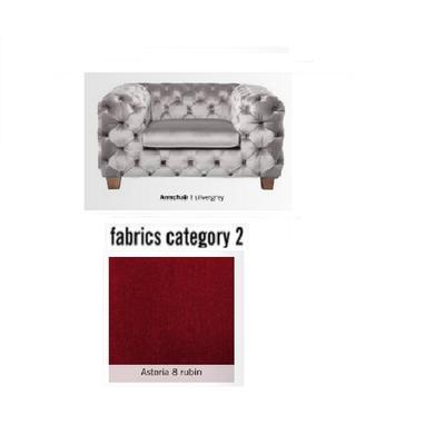 Poltrona My Desire, tela 2 - Astoria 8 rubin (128x66x105cms)