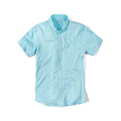 Camisa Wooster Manga Corta - Azul