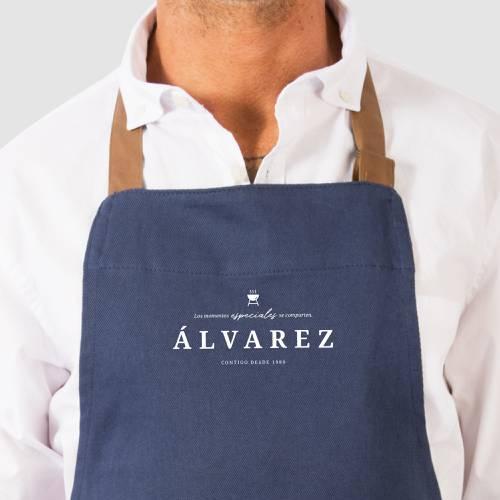 Delantal Color Siete Álvarez - Azul
