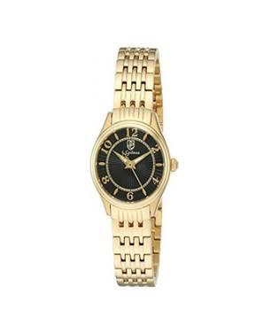 Reloj análogo negro-dorado 0344