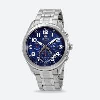 Reloj contemporary quartz azul-plateado 002D