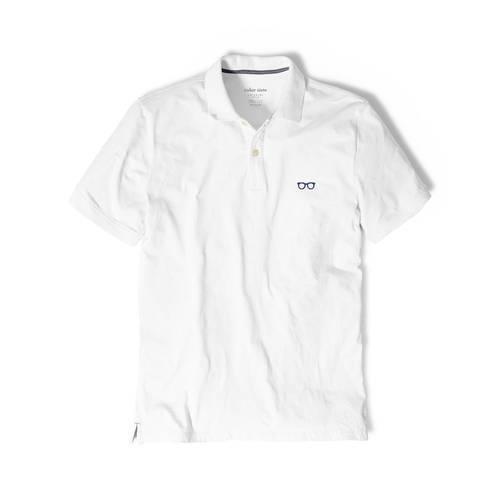 Polo Color Siete Para Hombre Blanco - Gafas