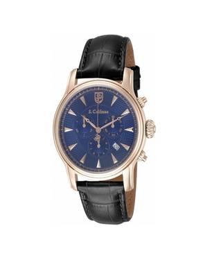 Reloj análogo azul-negro 0226