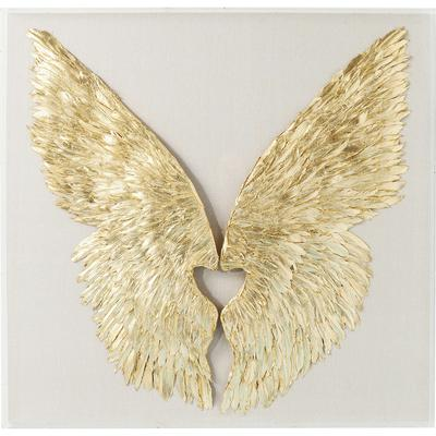 Decoración pared Wings Gold White 120x120cm