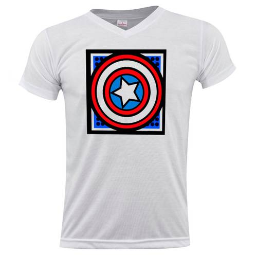 Camiseta Cuello V Capitan Shield 0267 - ART GENERATION