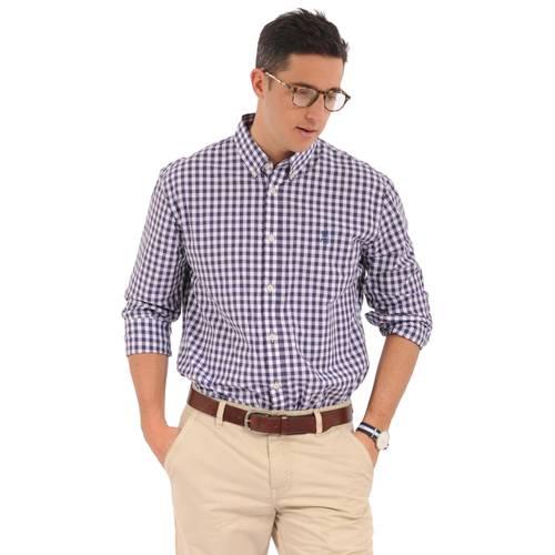 Camisa Manga Larga Wainscott Jack Supplies Para Hombre - Morado