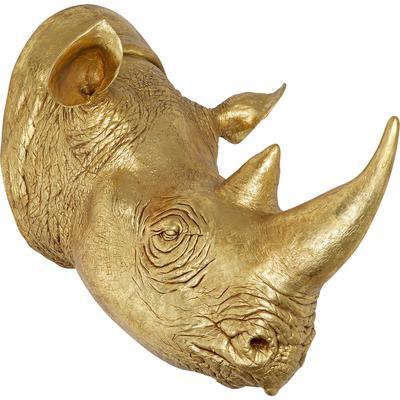 Cabeza decorativa Rhino oro 107cm
