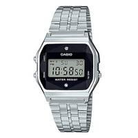 Reloj digital negro-plateado D-1D
