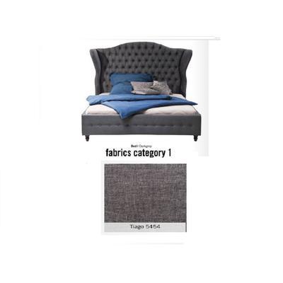 Cama City Spirit, tela 1 - Tiago   5454, (120x156x260cms), 200x200cm (no incluye colchón)