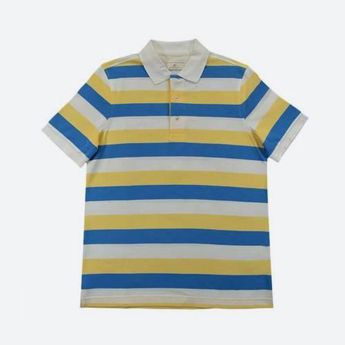 Camiseta Polo Nal Rayas Pique Blanco 000-10 - Arturo Calle