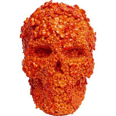 Alcancía Skull Flowers naranja