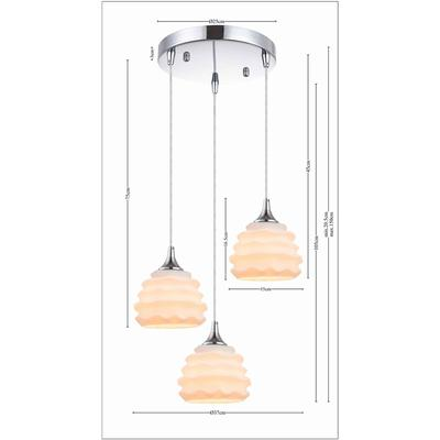 Lámpara Ruffle blanco Ø 37cm