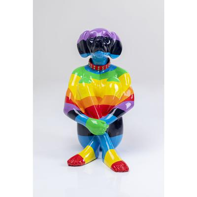Objeto decorativo Sitting Dog Rainbow 80cm
