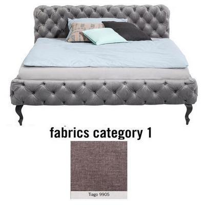 Cama Desire, tela 1 - Tiago  9905, (100x197x228cms), 180x200cm (no incluye colchón)