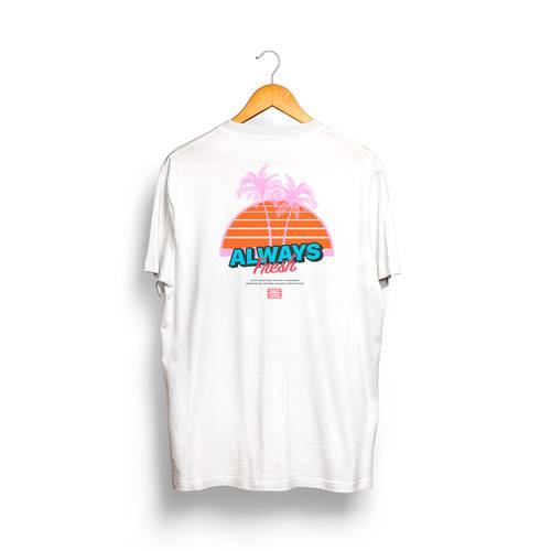 Camiseta RTV Rosé Pistol Unisex - Blanco