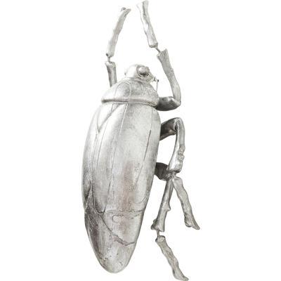 Decoración pared Plant Beetle plata