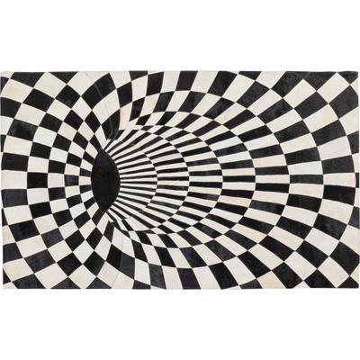 Alfombra 3D Creative negro blanco 170x240cm