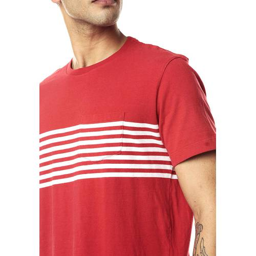 Camiseta Rosé Pistol para Hombre-Rojo