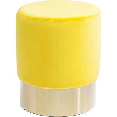 Taburete Cherry amarillo latón Ø35cm