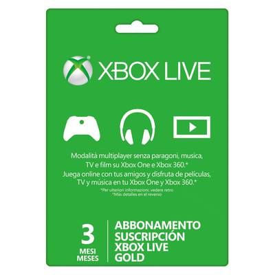 Xbox Live 3 Meses Gold