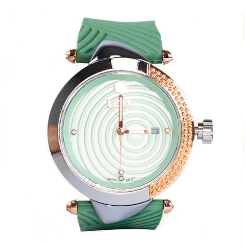 Reloj Verde - Plateado - L1104-01