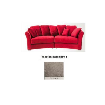 Sofá Fasano, 2 puestos, tela 1 - Kansas Grey(287x133x70cms)