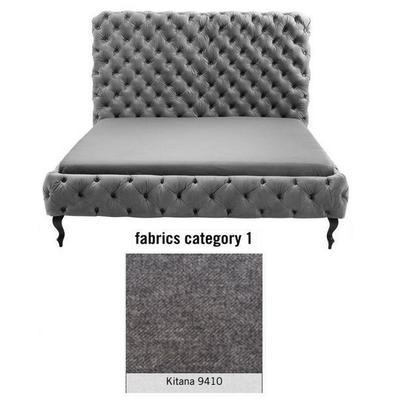 Cama (Alta) Desire, tela 1 - Kitana 9410, (135x197x228cms), 180x200cm (no incluye colchón)