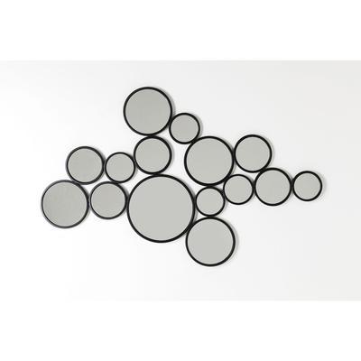 Espejo Bubbles negro 93x138cm