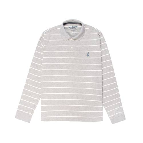 Polo Manga Larga Jack Supplies Para Hombre  - Gris