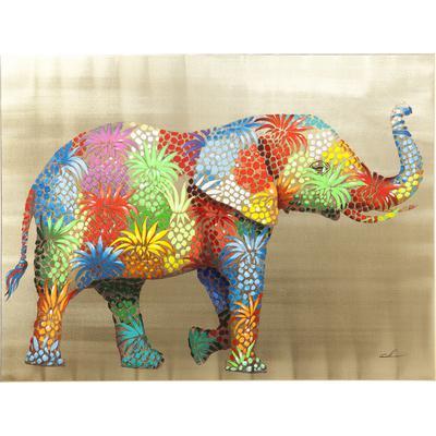 Cuadro  Flower Elefant 90x120cm