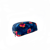 Cosmetiquera Estampada Azul Floral