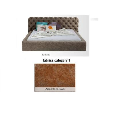 Cama Slumber, tela 1 - Appollo Brown  (82x228x239cms), 180x200cm (no incluye colchón)