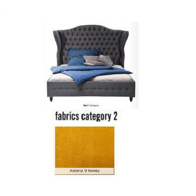 Cama City Spirit, tela 2 - Astoria 9 honey, (120x156x260cms), 160x200cm (no incluye colchón)