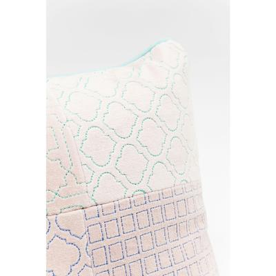 Cojín Patchwork Bright rosa 25x40cm
