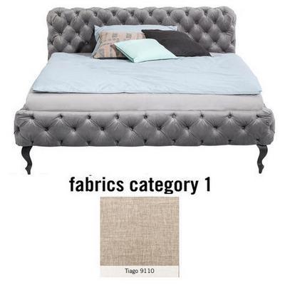 Cama Desire, tela 1 - Tiago 9110,  (105x145x228cms), 120x200cm (no incluye colchón)