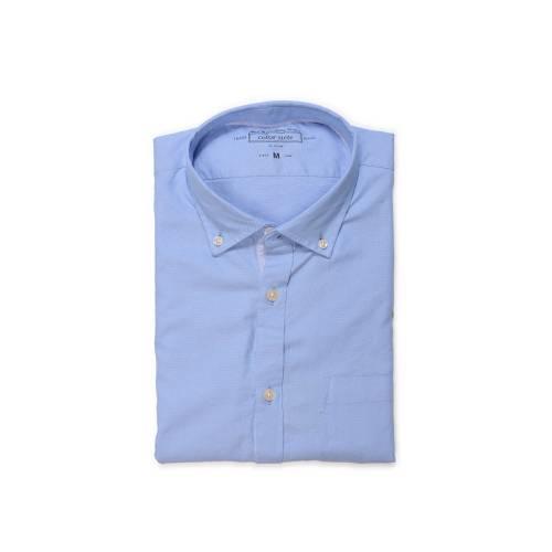 Camisa Manga Larga Jones Color Siete para Hombre  - Azul
