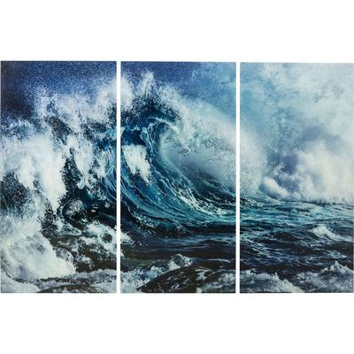 Cuadro cristal Triptychon Wave  160x240cm (3/Set)