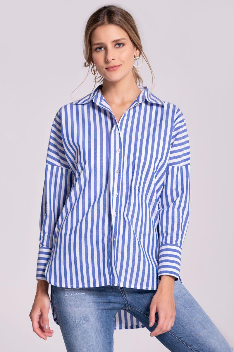 180001828b CAMISA ESTAMPADA RAYAS - Spírito Tienda online - Moda femenina