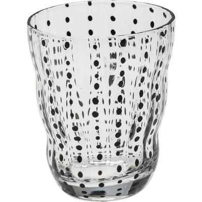 Vaso agua negro Dots