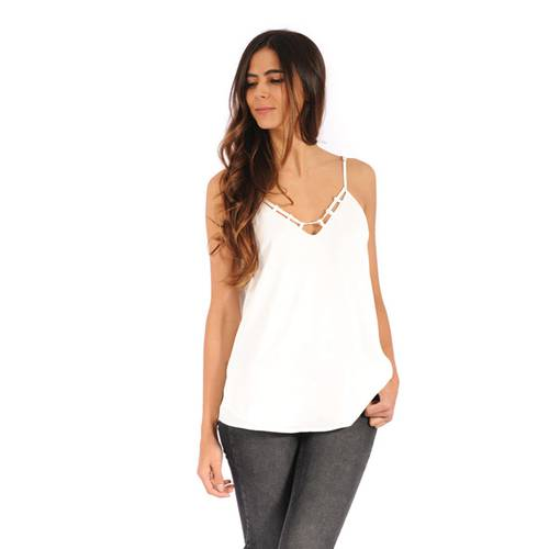 Blusa Totty Color Siete Para Mujer  - Blanco