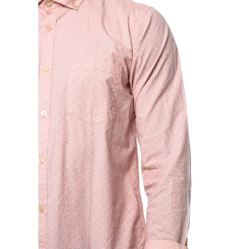 Camisa Manga Larga Murray Color Siete para Hombre - Rosa