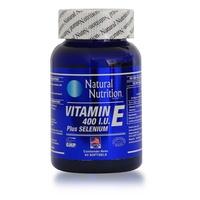 Natural Nutrition Vitamina E 400 IU Plus Selenium x 60 Capsulas