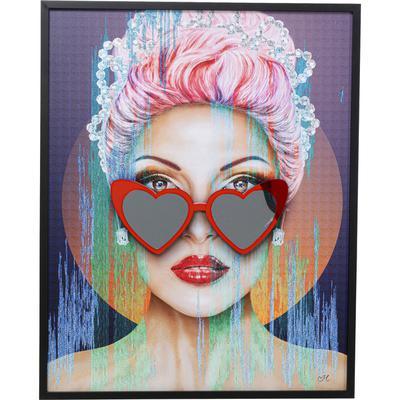 Cuadro enmarcado Heart Glasses 100x80cm