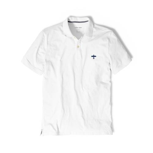 Polo Color Siete Para Hombre Blanco - Avion