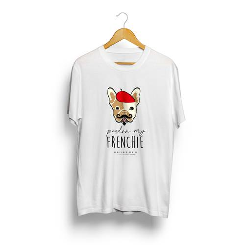 Camiseta Jack Supplies Para Hombre Pardon My Frenchie  - Blanco